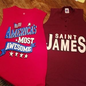 Russell Authentic & Other brand Boys tank tops